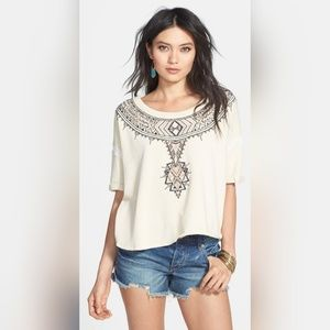 Free People Avalon Embroidered Pullover